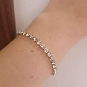 Riviera Bracelet with Steel Stones in Yellow Gold AJ (BK0165X)