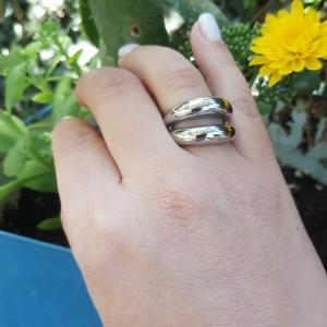 Women's Ring from Steel to Silver AJ (DK0016A)